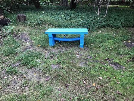 CHRISTOPHER POEHLMANN, 'RoughHewn Bench in Blue', 2020
