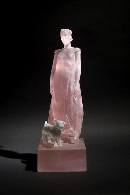 Nicolas Africano, 'Pink Girl with Dog', 2014