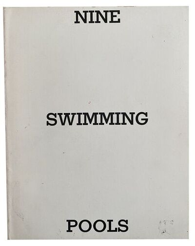 Ed Ruscha, 'Nine Swimming Pools and a Broken Glass, SIGNED', 1968/1976