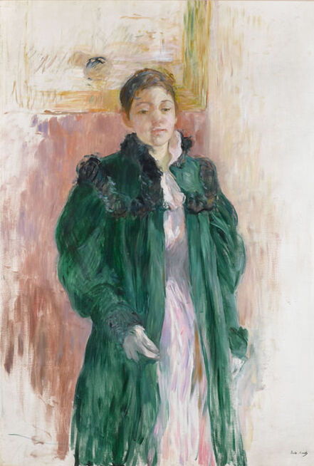 Berthe Morisot, 'Jeune Fille au Manteau Vert', 19th century