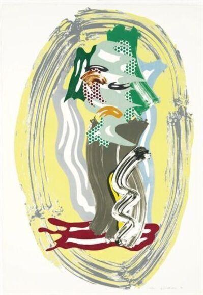 Roy Lichtenstein, 'Green Face from Brushstroke figures ( Corlett 232)', 1989