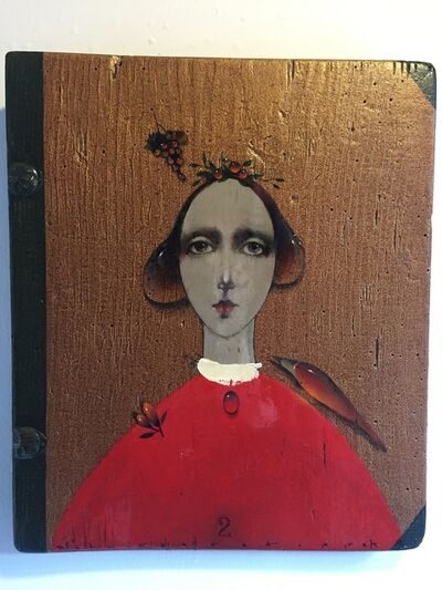 Mahmut Karatoprak, 'Lady with grapes in red ', 2017