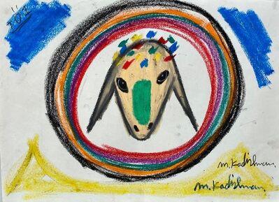 Menashe Kadishman, 'Crowned Goat Circled', Late 20th century