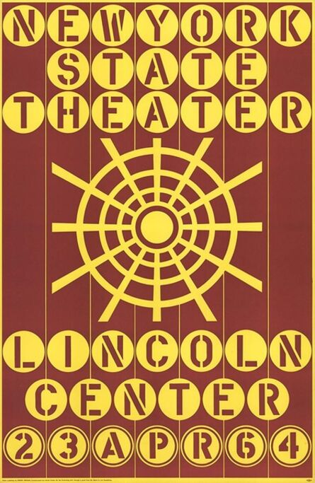 Robert Indiana, 'New York State Theater, Lincoln Center ', 1964
