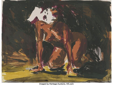 Eric Fischl, 'Woman on all fours (2 works)', 1986
