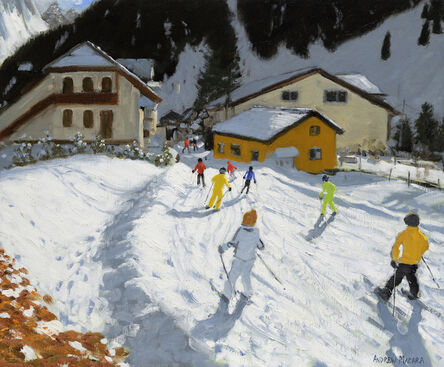 Andrew Macara, 'Skiing Back to Val Gardena, Italy'