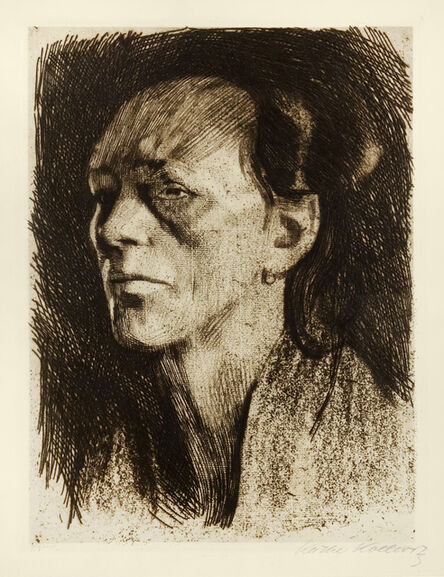 Käthe Kollwitz, 'Arbeiter frau mit dem Ohrring (Woman with Earring)', 1910