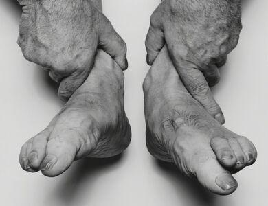 John Coplans, 'Self Portrait, Hands Holding Feet', 1985