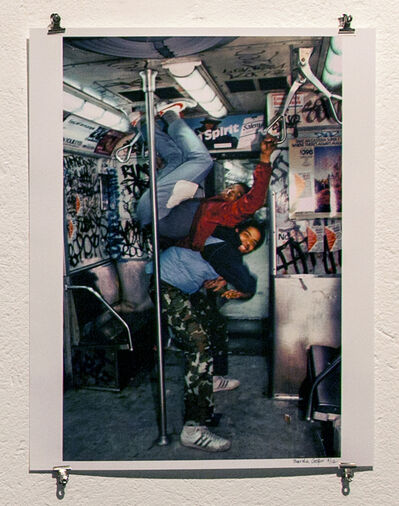 Martha Cooper, 'Skeme and Agent Playing on Train in #3 Yard, Manhattan', 1982