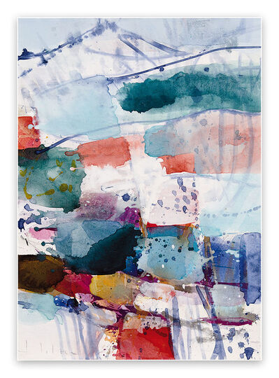 Greet Helsen, 'Mountain and Valley VII (Abstract Expressionism painting)', 2021