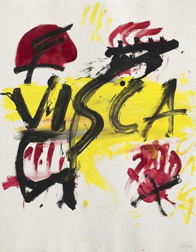 Antoni Tàpies, 'Visca !', 1972