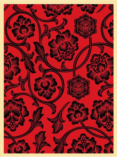 Shepard Fairey, 'Flower Vine (Black/Red)', 2009