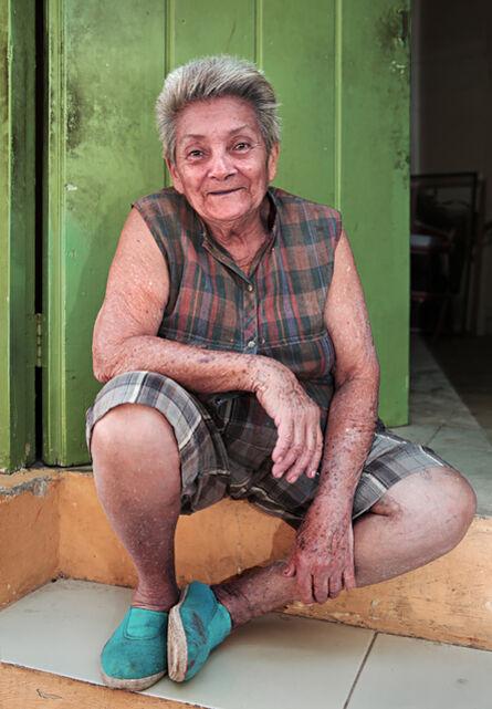 Neil O. Lawner, 'Lady in Green Doorway'
