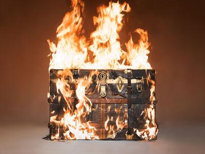 Tyler Shields, 'Louis Vuitton Trunk on Fire', 2016
