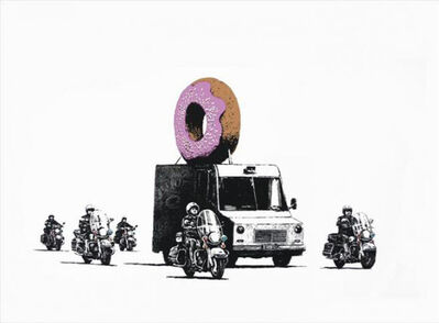 Banksy, 'Strawberry Donuts - Signed ', 2009