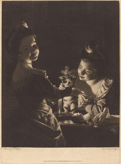 Thomas Watson after Joseph Wright, 'Miss Kitty Dressing', 1781