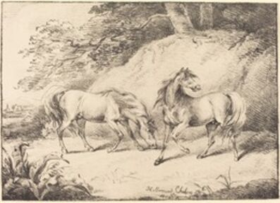 Henry Bernard Chalon, 'Wild Horses', 1804