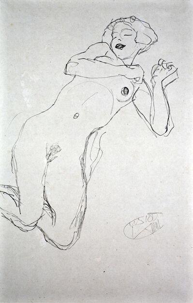"""Gustav Klimt, 'Study for """"The Maiden"""" [Fünfundzwanzig Handzeichnungen]', 1919"""