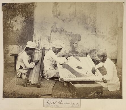 Unknown Artist, 'Gold Embroiderers', 1873