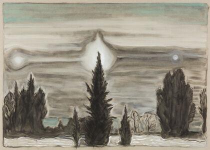 Billy Childish, 'three suns', 2019