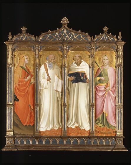 Agnolo di Taddeo Gaddi, 'St. Mary Magdalene, St. Benedict, St. Bernard of Clairveaux and St. Catherine of Alexandria', ca. 1380-1390