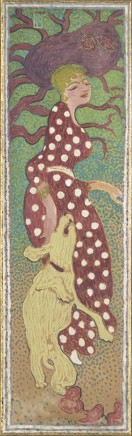 Pierre Bonnard, 'Femmes au jardin, Femme à la robe à pois blanc (Women in a Garden: Woman in a Polka Dot Dress)', 1890-1891