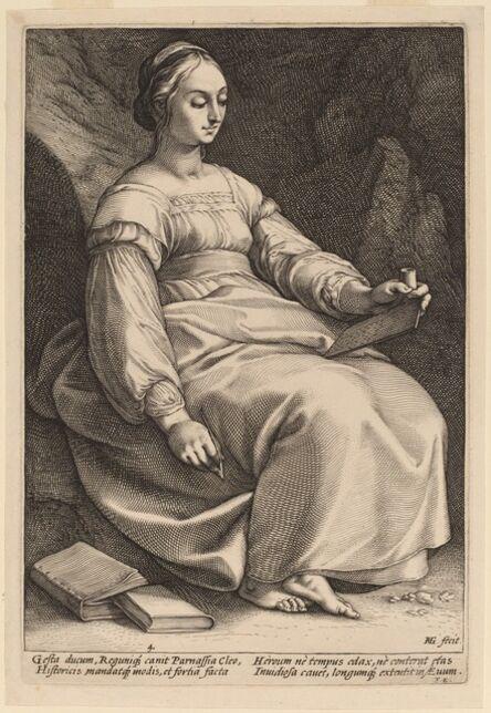 Hendrik Goltzius, 'Clio', probably 1592