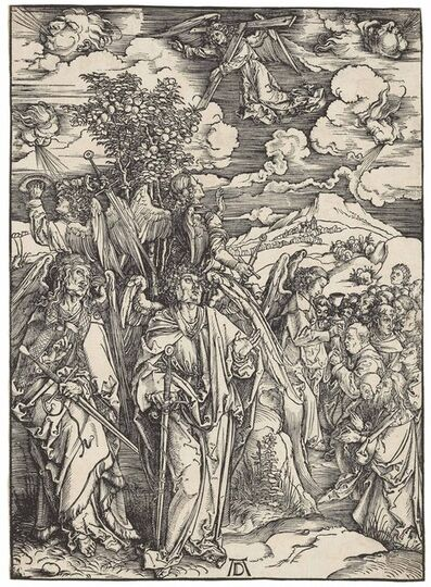 Albrecht Dürer, 'The Four Angels holding the Winds, from: Apocalypse (B. 66; M., Holl. 169; S.M.S. 117)', ca. 1497-1498