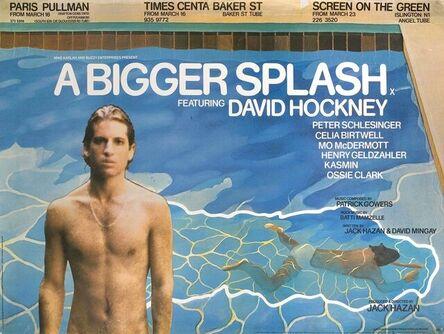 """David Hockney, '""""A Bigger Splash""""Original David Hockney Film Poster', 1973"""