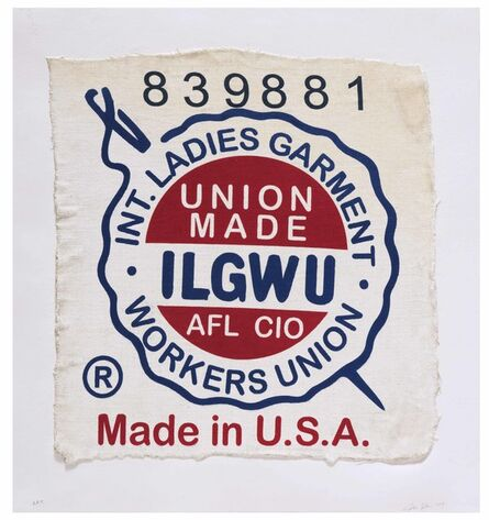 Analía Saban, 'International Ladies Garment Workers Union, Made in USA, Clothing Tag', 2019