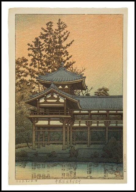 Kawase Hasui, 'Phoenix Hall, Byodo Temple', 1933