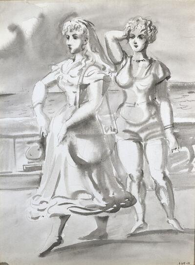 Reginald Marsh, 'Two Women on a Promenade', 1948