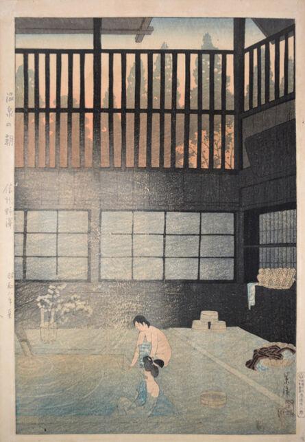 Kasamatsu Shirō, 'Nozawa Hot Spring in the Morning, Shinshu', Summer 1933