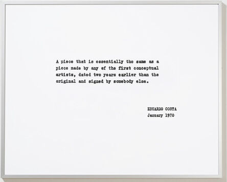 Eduardo Costa, 'A piece that is...', 1970-2008