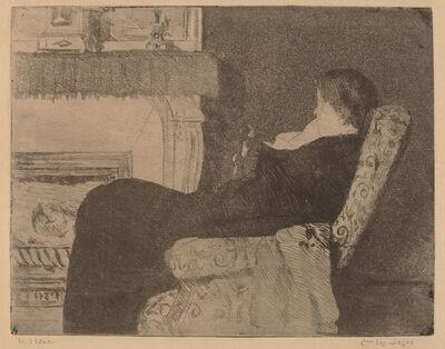 Mary Cassatt, 'Before the Fireplace (No. 1)', ca. 1882