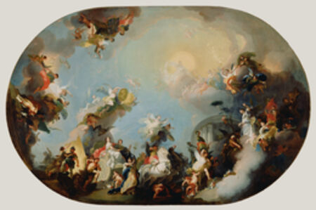 Franz Anton Maulbertsch, 'The Glorification of the Union of the Houses of Hapsburg and Lorraine', 1775