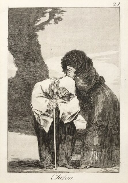 """Francisco de Goya, ' CHITON  - """"An excellent woman to trust with a confidential"""",', ca. 1799"""