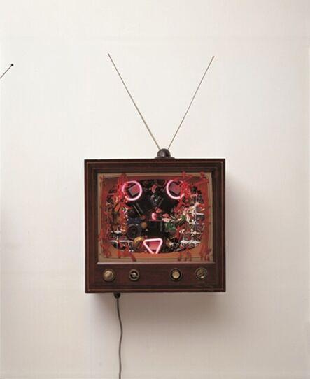 Nam June Paik, 'Neon TV - 22nd Century fox', 1990