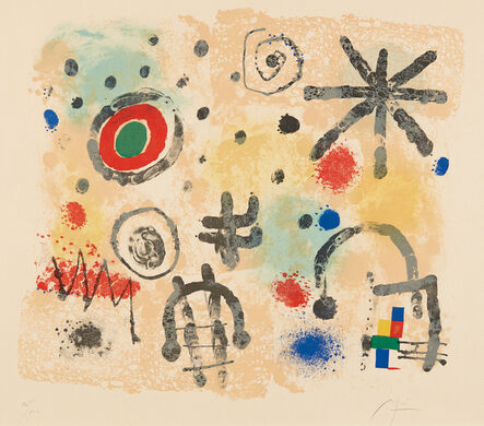 Joan Miró, 'Signes et météores (Signs and Meteors)', 1958