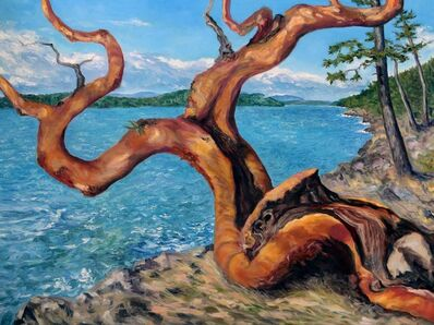 Terrill Welch, 'Arbutus Tree in Breaking Sun', 2020