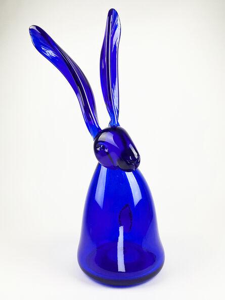Hunt Slonem, 'Cobalt Bunny', 2020