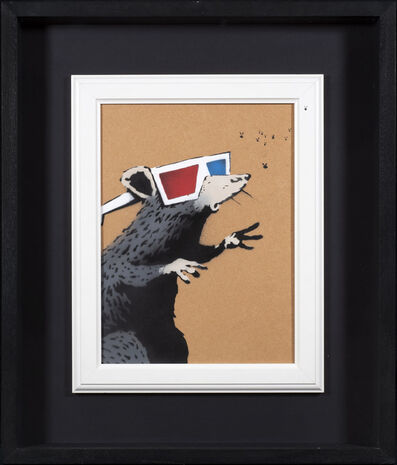 Banksy, '3D Rat (Rat with 3D Glasses and Fly)', 2010