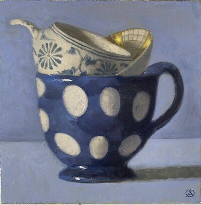 Olga Antonova, 'Polka Dots on Blue', 2020