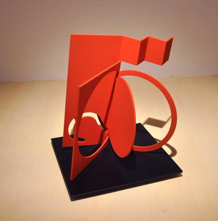 Fletcher Benton, 'Folded Square Alphabet S', 2013