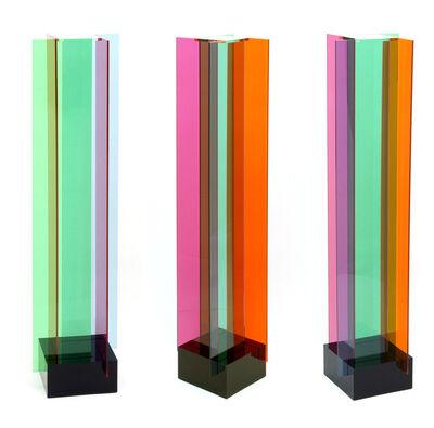 Carlos Cruz-Diez, 'Transchromies B à quatre éléments', 1965-2010