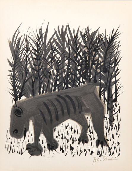 Ben Shahn, 'One Must Know the Animals', 1968