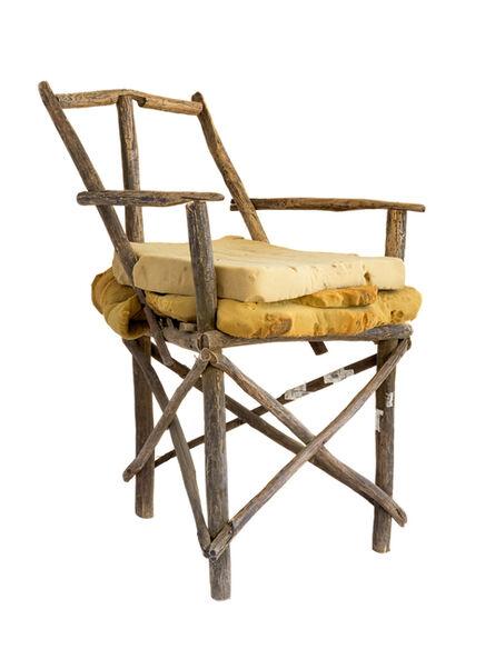 Filipe Branquinho, 'Cadeira com paus de vassoura', 2020