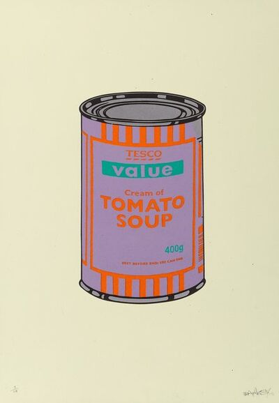 Banksy, 'Soup Can (Purple/Orange/Blue)', 2005