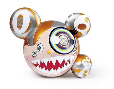 Takashi Murakami, 'Mr DOB Figure By BAIT x SWITCH Collectibles - Gold edition (Signed)', 2016