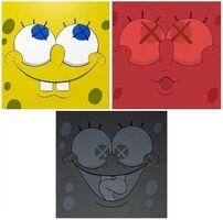 KAWS, 'SpongeBob (Set of three prints, framed)', 2010